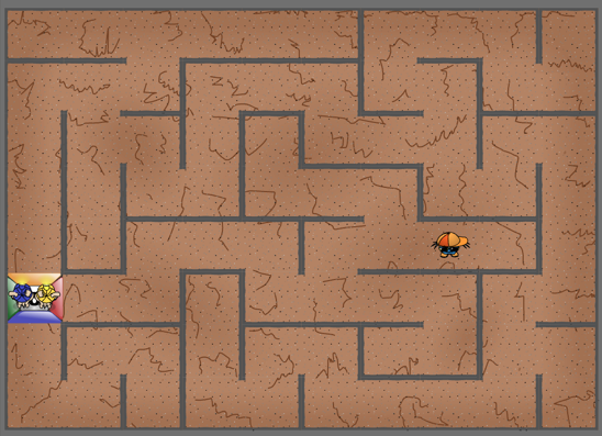 maze with dogbee
